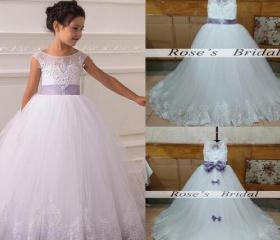 White Tulle Flower G..