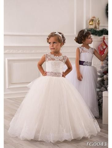 White Flower Girl Dresses, Puffy Cute Little Girl Dresses, Cheap ...