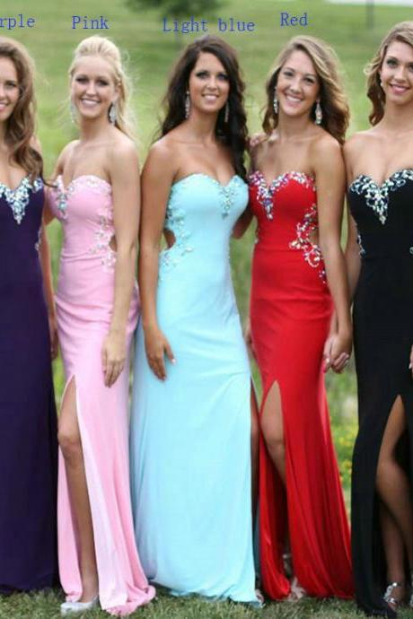 Chiffon Bridesmaid Dresses, Long Bridesmaid Dresses, Elegant Bridesmaid Dress, Sexy Bridesmaid Dress, Chiffon Bridesmaid Dress, Sparkly Bridesmaid Dress