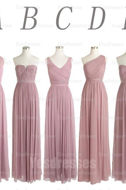 Dusty Purple Bridesmaid Dress, Mismatched Bridesmaid Dress, Long Bridesmaid Dress, Elegant Bridesmaid Dress, Bridesmaid Dresses 2017, Women Formal Party Dress, Cheap Bridesmaid Dress